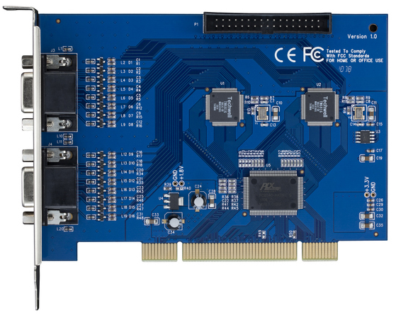 High Performace H.264 Software Compression DVR Card: HK-6208S, HK-6216