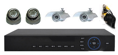 4Cam H.264 CCTV Security System: HK-H5004F-kit