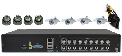8Cam Complete CCTV Security System: HK-H5008F-kit