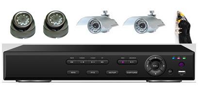 4Cam H.264 CCTV DVR System Kit: HK-S2204F-kit