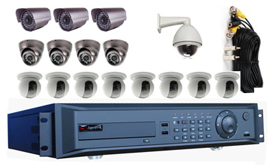 16Cam 960H CCTV DVR System: HK-S8216F-kit