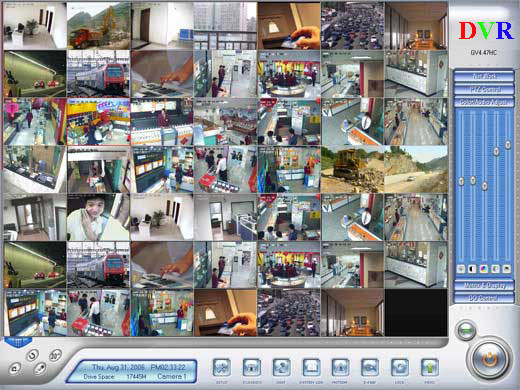Monitoring window of PC DVR