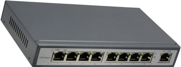 9-PORT 10/100 SWITCH WITH 8-PORT POE: POE3108P