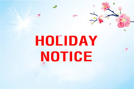 1 Oct., to 7 Oct., 2018,KingCCTV National Holidays Notify